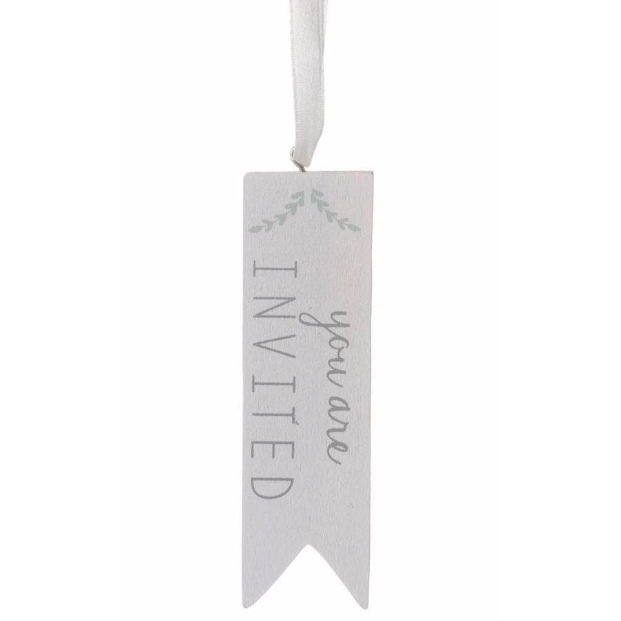 You Are Invited Wooden Tag