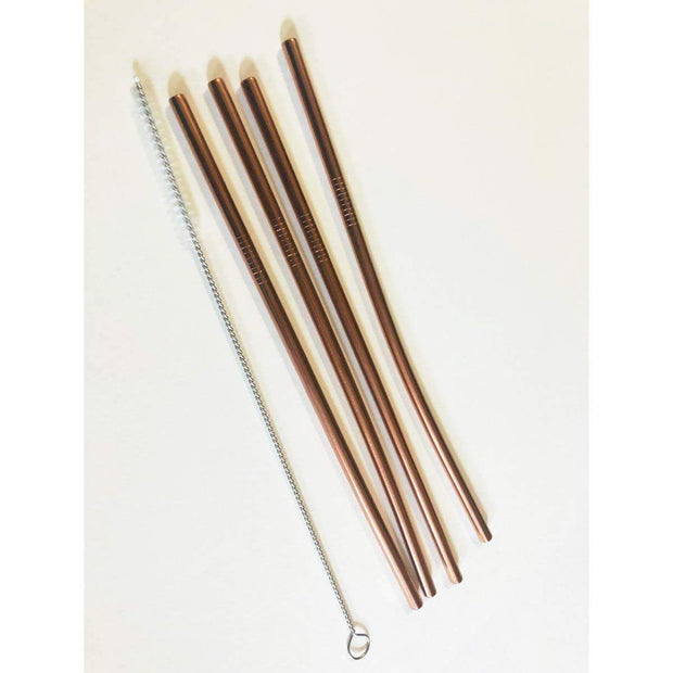 Stainless Steel Straws - Rose Gold