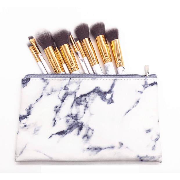 Marble 10pc Travel Brush Set