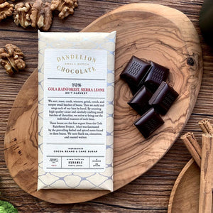 Dandelion Chocolate Chocolate Bar Dandelion Chocolate Japan - Gola Rainforest, Sierra Leone 70% 2017 Harvest Single-Origin Chocolate Bar -