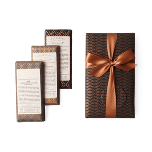 Dandelion Chocolate Gift 85% and 100% Wrapped Three-Bar Gift Set