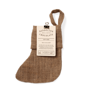 Dandelion Chocolate Gift Filled Mini Burlap Holiday Stockings Stocking + $25 Gift Card - $29 / -
