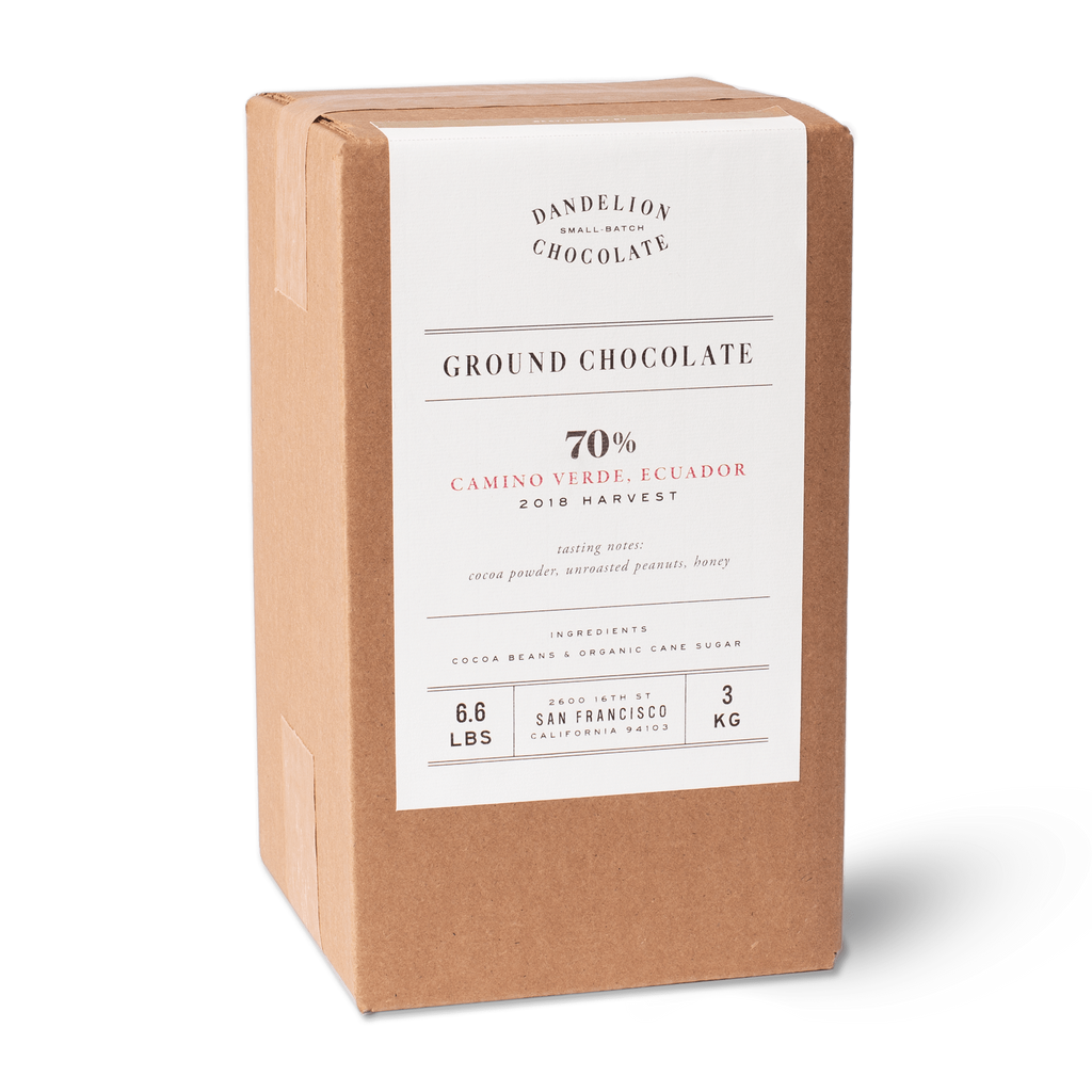 Dandelion Chocolate Ground Chocolate Ground Chocolate - Camino Verde, Ecuador 70% 2019 Harvest