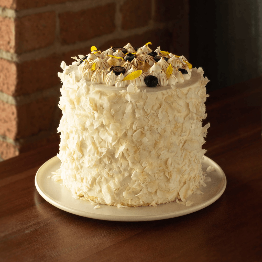 Dandelion Chocolate Pastry Cacoa Fruit and Coconut Cake -