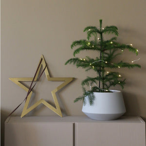 Winterstar hanging 40cm, Messing, gold