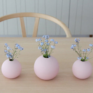 Ball Vase 10cm, dusty pink