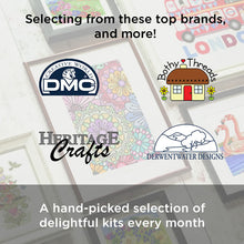 3 Months Pre-Paid Craft Fix: Cross Stitch Subscription Box