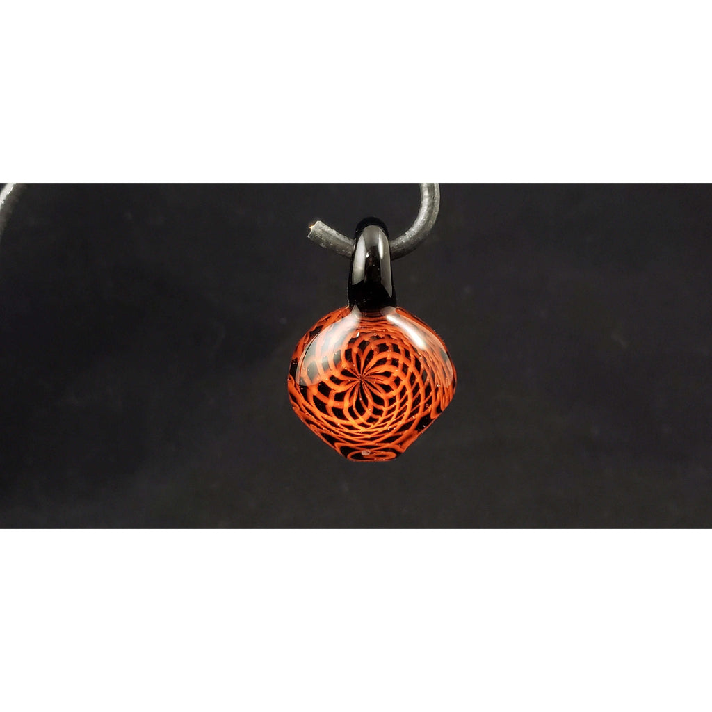 The Red Matrix Glass Pendant:Conscious Mind Glass Studio's