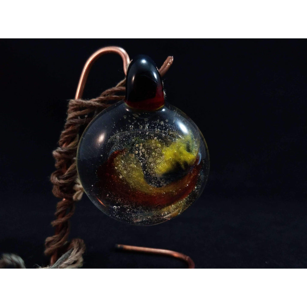 Corn Snake Glass Borosilicate Glass Pendant:Conscious Mind Glass Studio's
