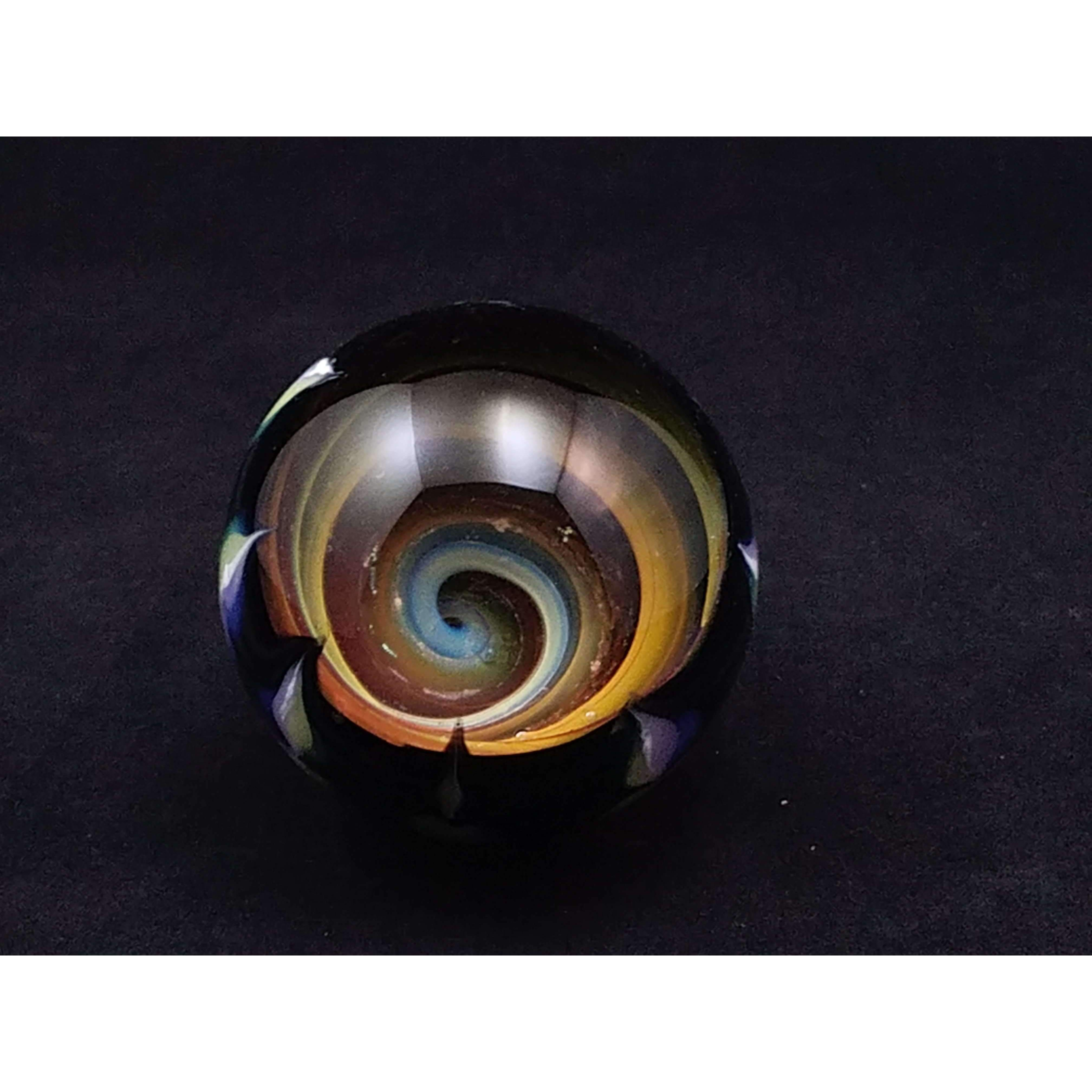 Dot Pull and Vortex Marble:Conscious Mind Glass Studio's