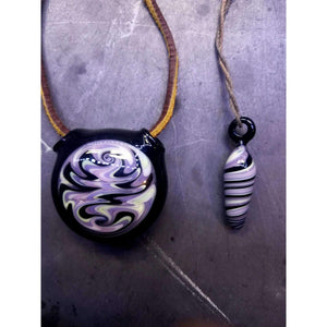 His and Hers Wig Wag Hollow Borosilicate Glass Pendant:Conscious Mind Glass Studio's