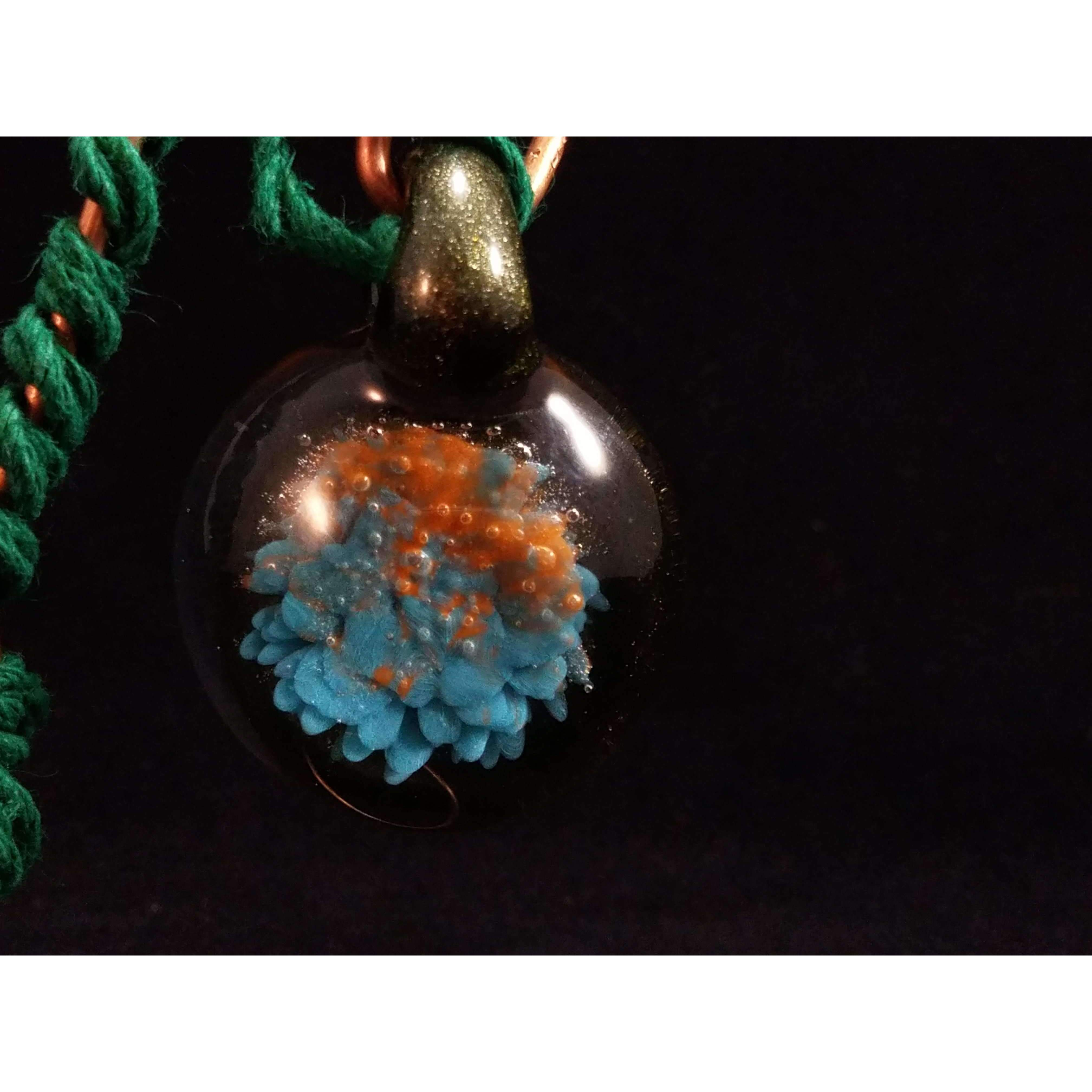 Lake Sun Rise Borosilicate Glass Pendant:Conscious Mind Glass Studio's