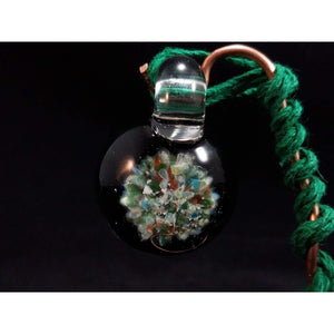 Party Time Borosilicate Glass Pendant:Conscious Mind Glass Studio's