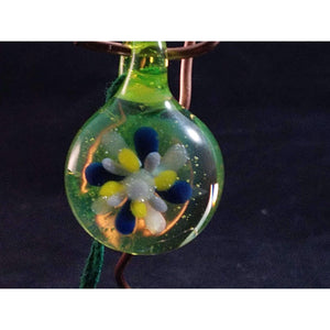 Slymey But Satisfying Borosilicate Glass Pendant:Conscious Mind Glass Studio's