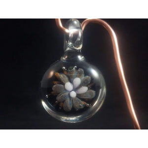 Some Dots Some Frit Glass Implosion Borosilicate Glass Pendant:Conscious Mind Glass Studio's