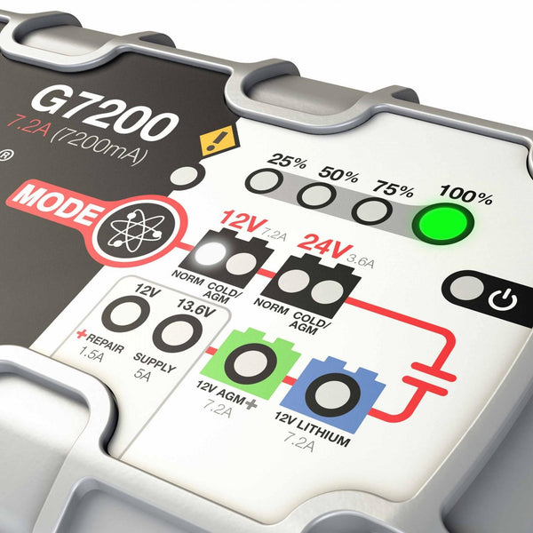 G7200   12V & 24V 7.2A UltraSafe Battery Charger and Maintainer