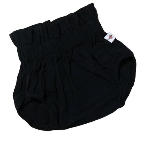 High-Waisted Bloomers in Black