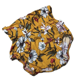 High-Waisted Bloomer in Mustard Floral