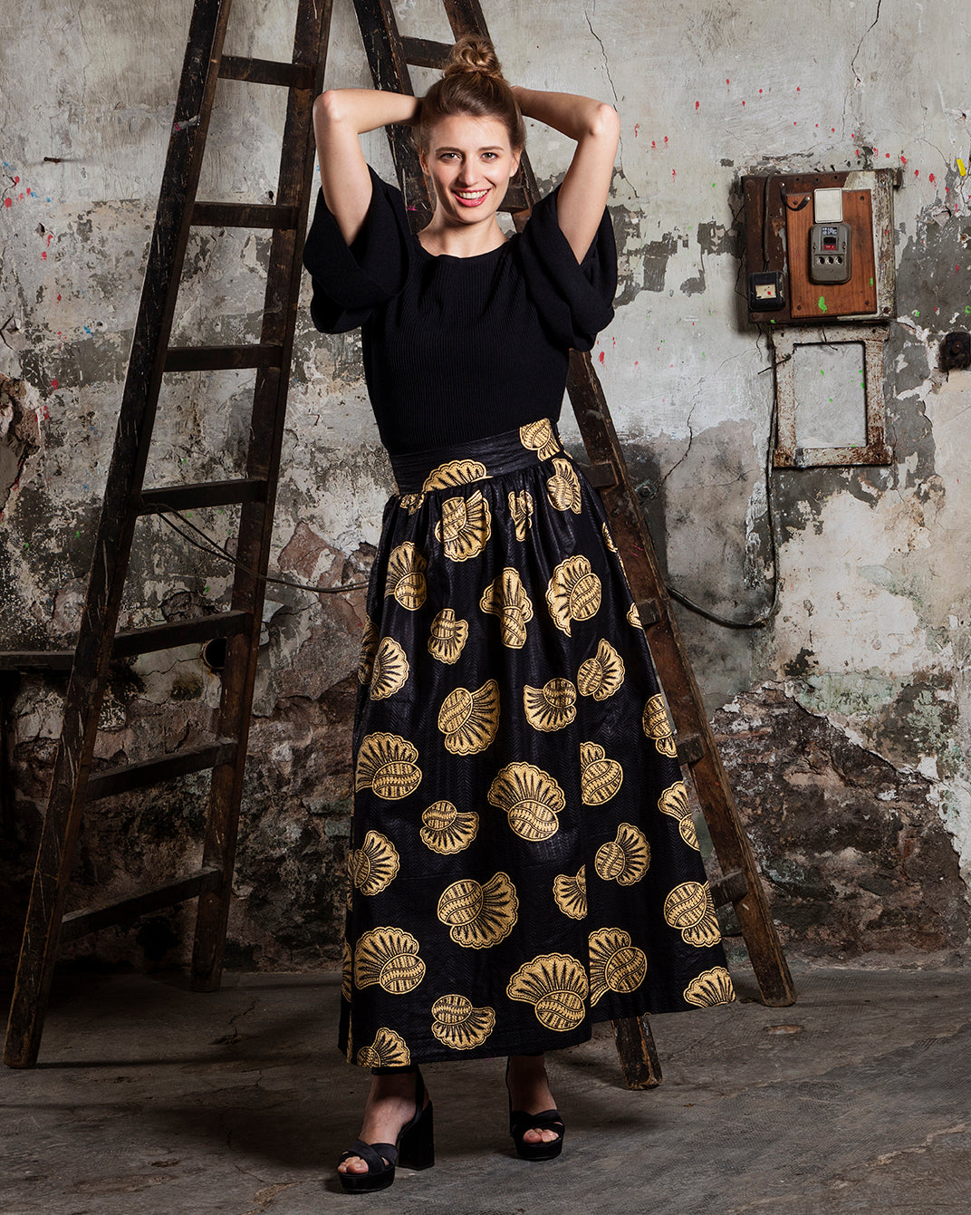 Cora&Lea Woman - Skirt Suzanne, Handmade, Limited Edition, Wax
