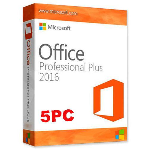 Microsoft Office Pro Plus 2016 - 5 user PC