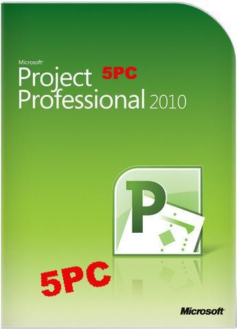 Microsoft Project Pro 2010 - 5 user PC
