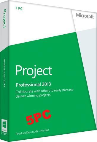 Microsoft Project Pro 2013 - 5 user PC