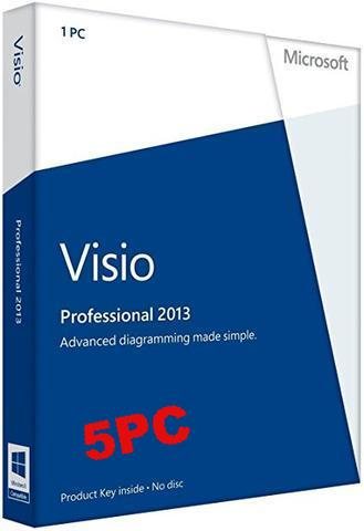 Microsoft Visio Pro 2013 - 5 user PC