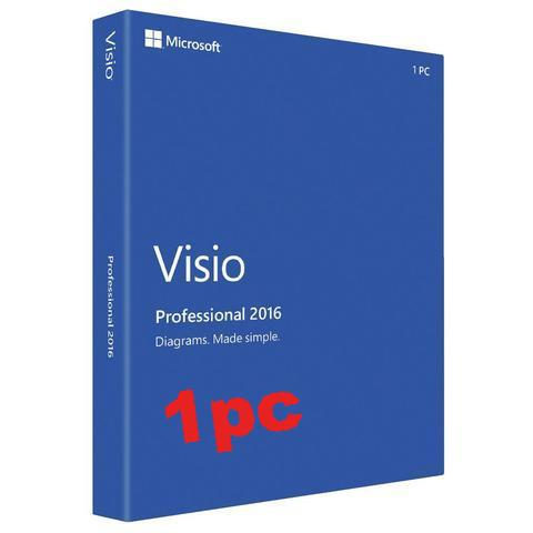 Microsoft Visio Pro 2016 - 1 user PC