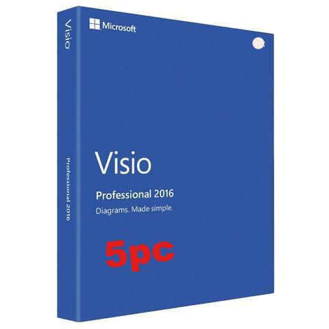 Microsoft Visio Pro 2016 - 5 user PC