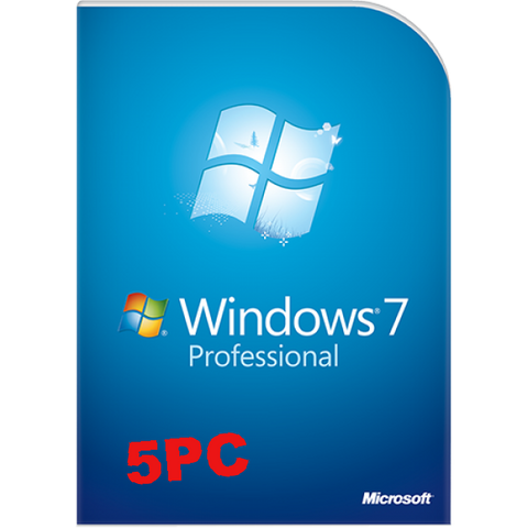 Microsoft Windows 7 Pro Full Retail 5 user PC