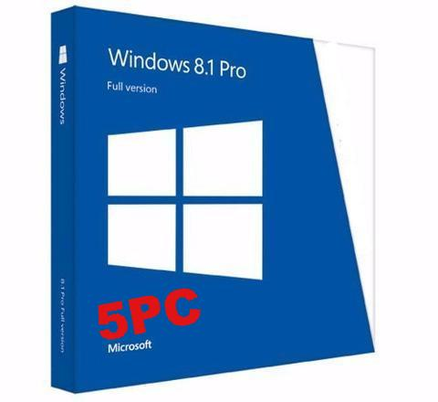 Microsoft Windows 8.1 Pro Full Retail 5 user PC