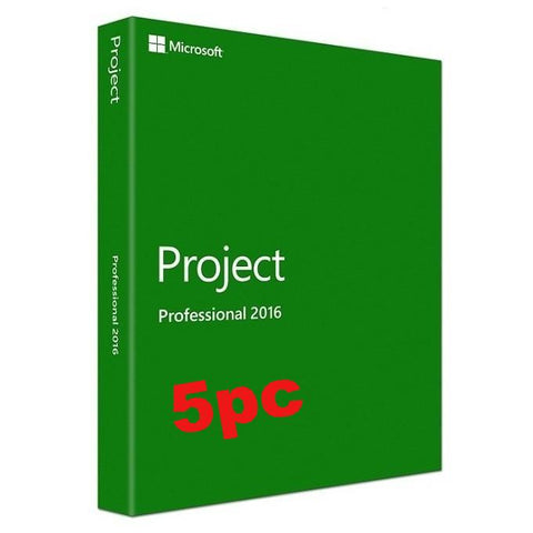 Microsoft Project Pro 2016 - 5 user PC