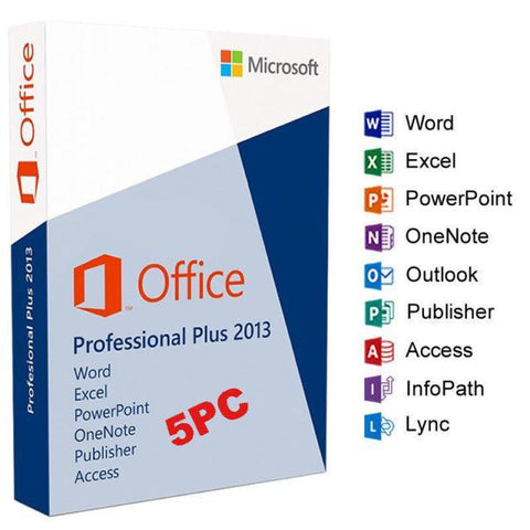Microsoft Office Pro Plus 2013 - 5 user PC