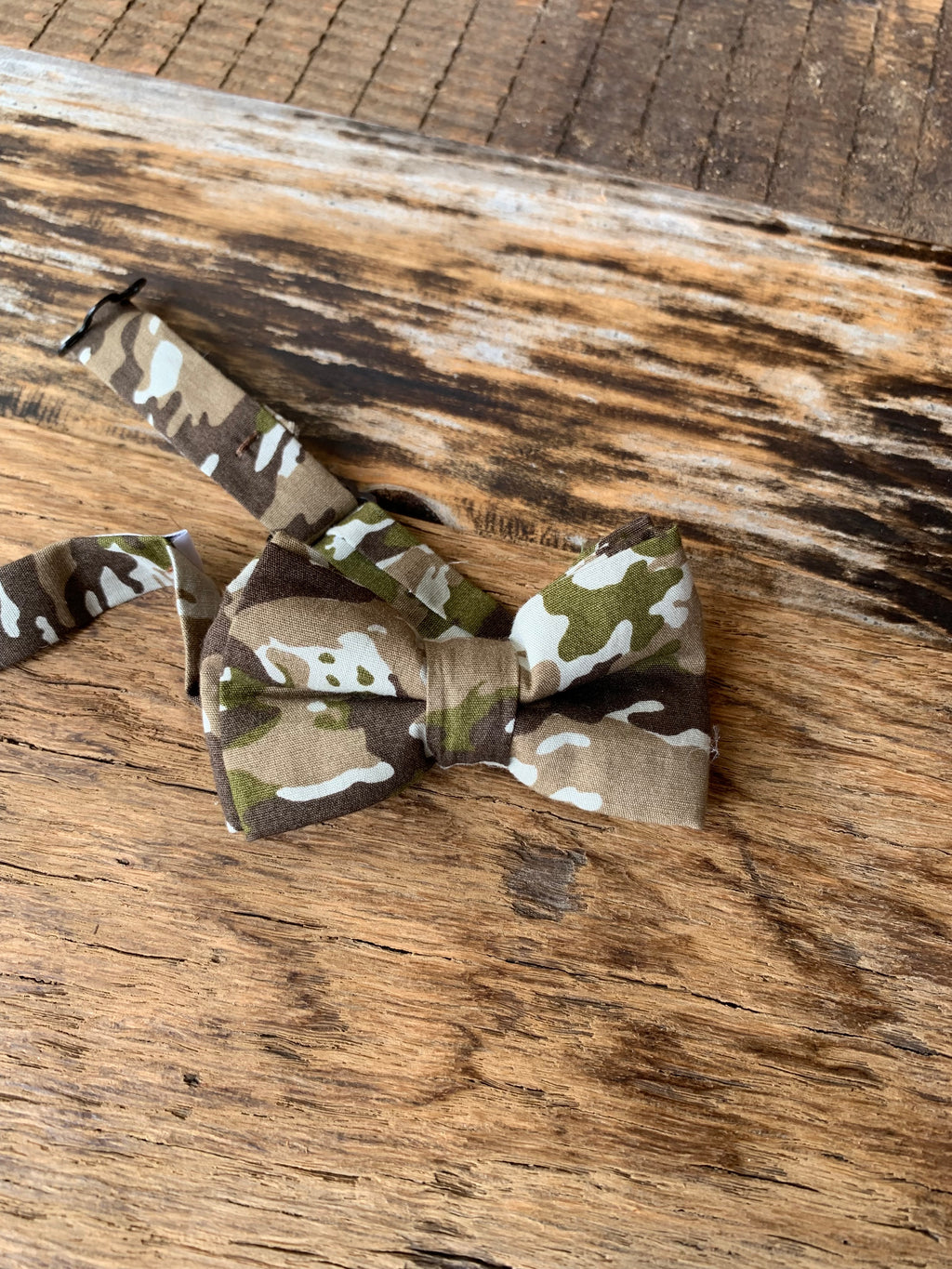 Confident Camo Junior Bow Tie