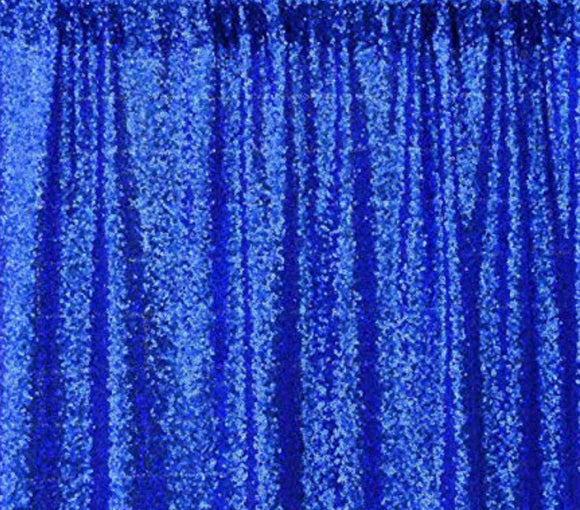 Royal Blue Sequin Backdrop 5'x7'- Rental