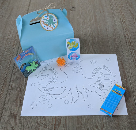 Under the Sea Filled Favor Box-4ct