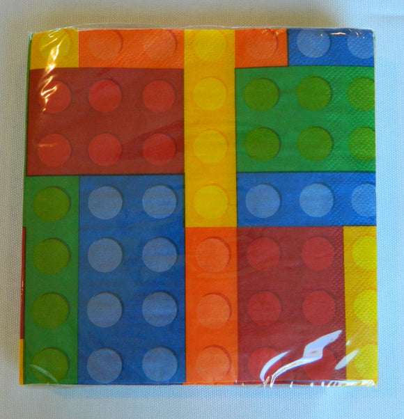 Building Block Lunch Napkins- 20ct