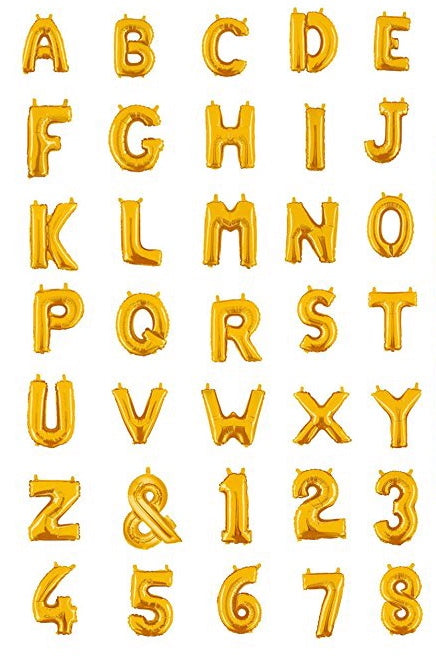 Gold Foil Balloon Letters & Numbers