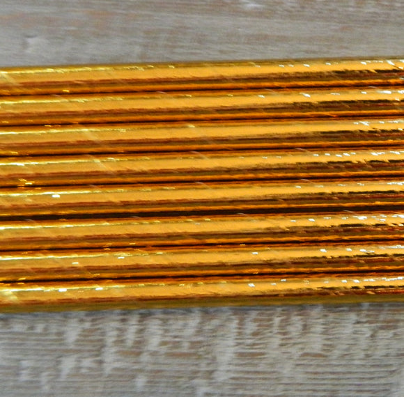 Gold Foil Paper Straws- 25ct