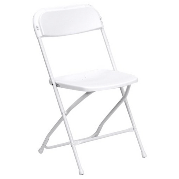 White Plastic Folding Chair- Rental