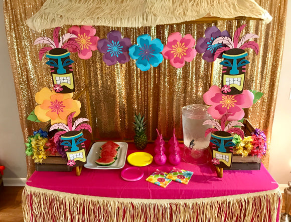 Tiki Hut Tabletop- Rental