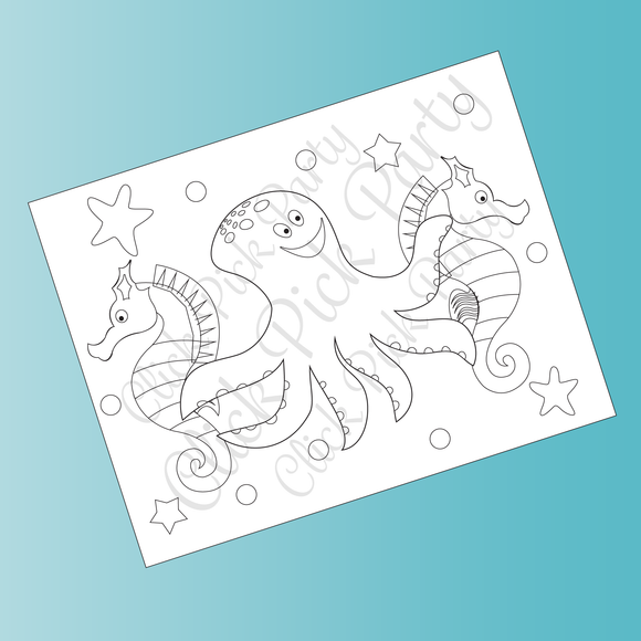 Under the Sea Color Sheets-12ct