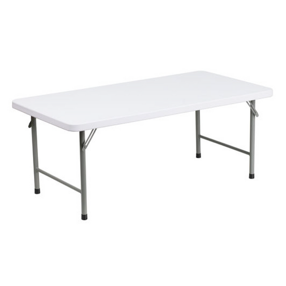 Children's White Plastic Table Rental