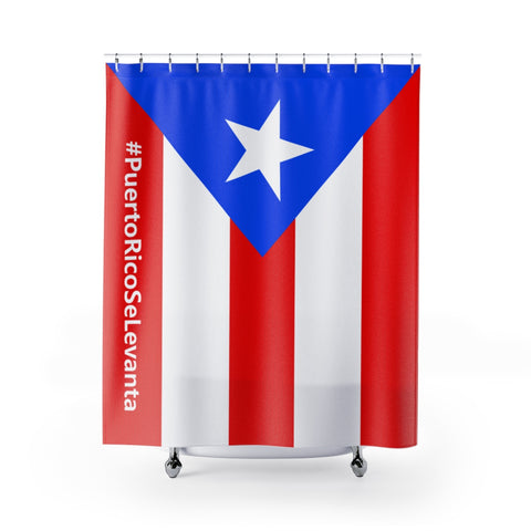 Official #PuertoRicoSeLevanta® Bandera Flag Shower Curtain