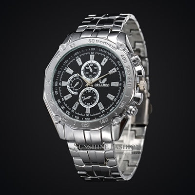 2019 Fashion Silver Stainless Steel Mens Watches Top Brand Luxury Watch Men .