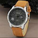 Miler Men Watches Top Brand Fashion Men's Leather Wrist watch Quartz Mens Watch.