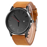 2019 Men Quartz watch sport leather strap.