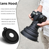 The S/L Ultimate Lens Hood Reflection-free Collapsible Silicone Lens Hood for Camera Mobile Phone Images and Videos.