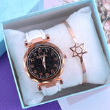 Fashion Starry sky Women watches Top Sale leather Bracelet.