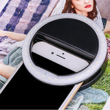Selfie LED Ring Flash Light Portable Phone Selfie Lamp Luminous Clip Lamp Camera Photography Video Spotlight .